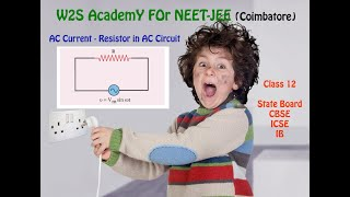 W2S AcademY Class 12 Physics - Resistor in AC Circuit