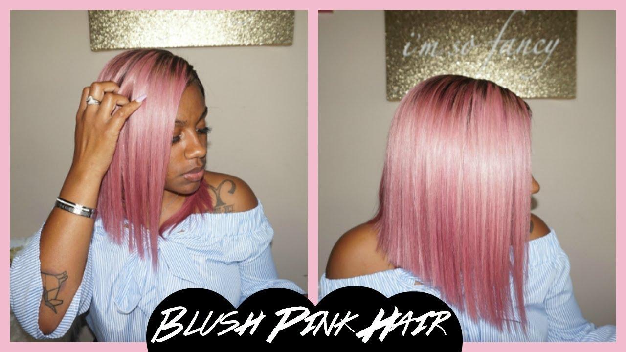 Blush Pink Hair Color Tutorial Brittonyah 101 Youtube