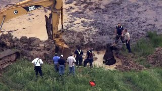 Pregnant Cow Trapped in Mud Rescued by Backhoe in Missouri thumbnail