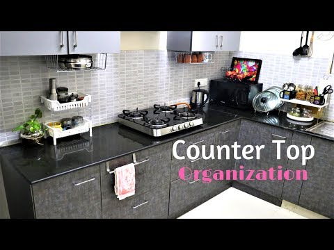Kitchen Organization Ideas- Countertop Organization