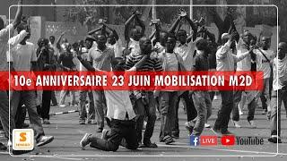 Direct Senego -10ème anniversaire 23 juin : Mobilisation du M2D au terrain Hlm Grand Yoff
