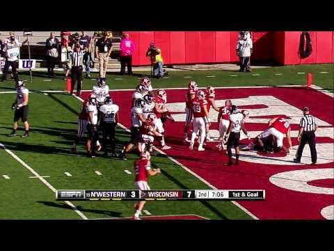 2013 Northwestern at Wisconsin Football Highlights