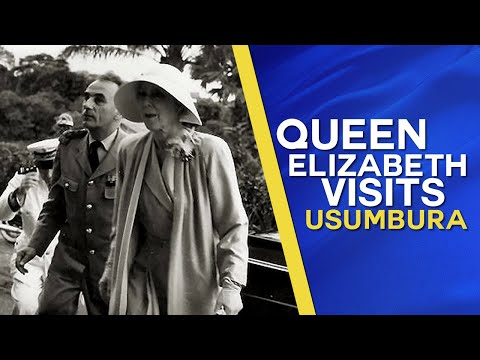 Queen Elisabeth of Belgium visits Usumbura in Belgian Congo