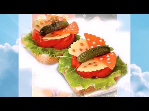 Бутерброды с красивым оформлением