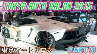 東京オートサロン 2015 パート3  リバティーウォークTokyo Auto Salon TAS2015 Part 3 Liberty Walk LB Performance