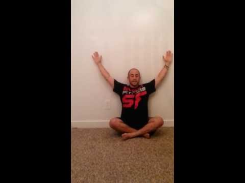 Seated Scapular Wall Slides