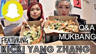 MUKBANG SNAPCHAT Q&A W/ KICKI YANG ZHANG ♥ Cheap Lazy Vegan