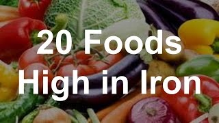 20 Foods High In Iron