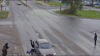 Пьяный водитель, сбил ребёнка на пешеходном переходе. Архангельск.