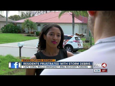 Cape Coral Residents Wait for Debris Pickup