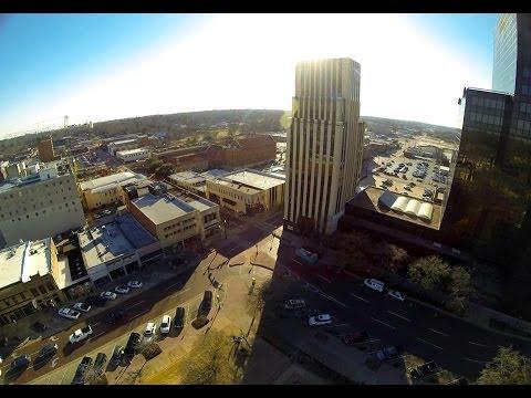 Tyler, TX Downtown 5:00 pm 2.13.14 DJI Phantom Aerial Video