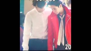 150122 Taemin finding his lost ring @ SMA with EXO Kai