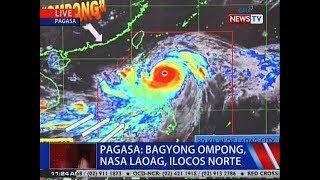 NTVL: PAGASA: Bagyong Ompong, nasa Laoag, Ilocos Norte