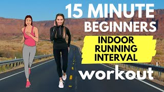 Beginners Running Workout - 15 Minute Home Workout to Make Running Easy - with Running Tips