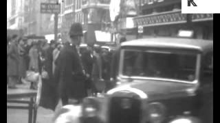 1930s London Decorated for King George VI Coronation, Home Movie Archive Footage