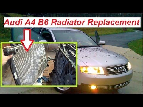 audi a4 b6 radiator removal and replacement 2002 2006 youtube rh youtube com 2014 Audi A4 2008 Audi A4