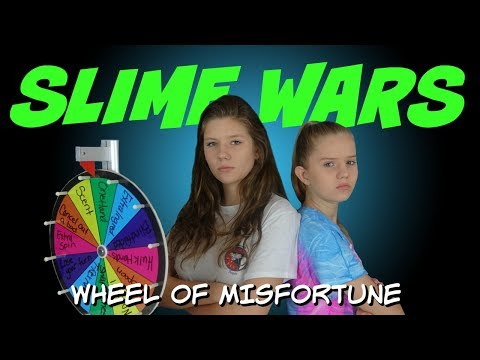 MYSTERY WHEEL OF SLIME CHALLENGE || SLIME WARS || Taylor and Vanessa