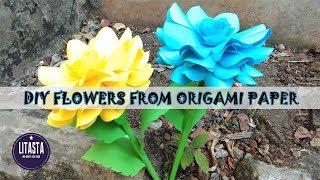 Keren !! ide kreatif membuat bunga dari kertas origami