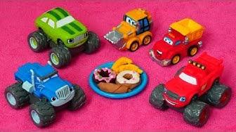 Leluvideo lapsille. Lasten autot menevät kävelylle. Hauskoja tarinoita pienille lapsille.