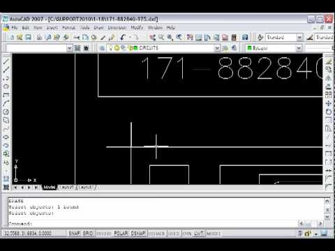 Clean AutoCAD drawing with overlapping segments