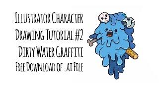 Illustrator character drawing tutorial #2 - Dirty Water Graffiti - Download .ai file free
