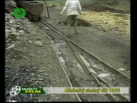 Albánie hnědouhelný důl / Albanian lignite mine