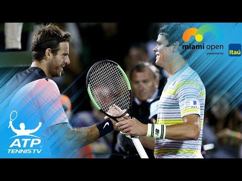 Del Potro vs Raonic: Best Shots & Rallies | Miami Open 2018 Quarter-Final
