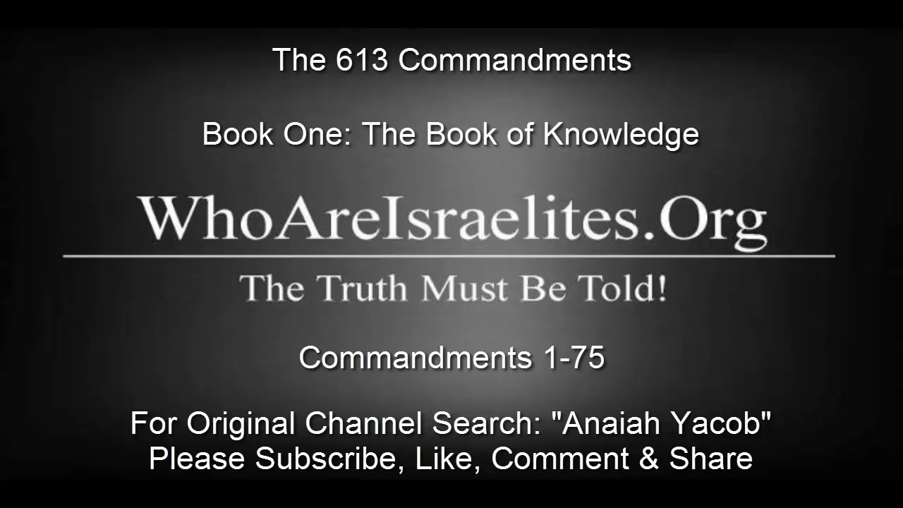 The 613 COMMANDMENTS BOOK ONE