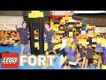 GIANT LEGO FORT CHALLENGE AT TRAMPOLINE PARK!