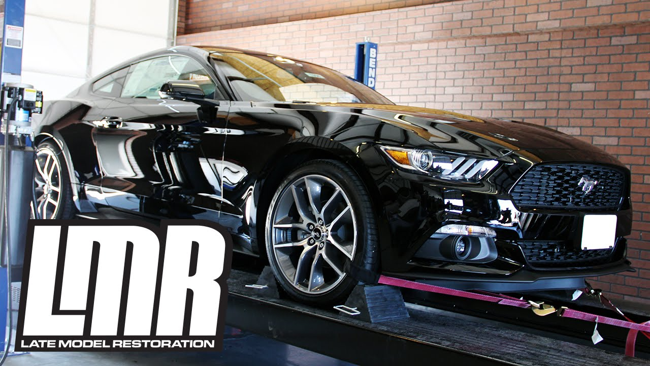 Mustang Ecoboost Premium >> EcoBoost Mustang Ford Racing Sport Catback Exhaust Install & Dyno (2015-2017 2.3L) - YouTube