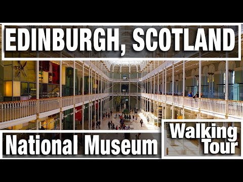 4K City Walks:  National Museum Of Scotland In Edinburgh - Virtual Walk Walking Treadmill Video
