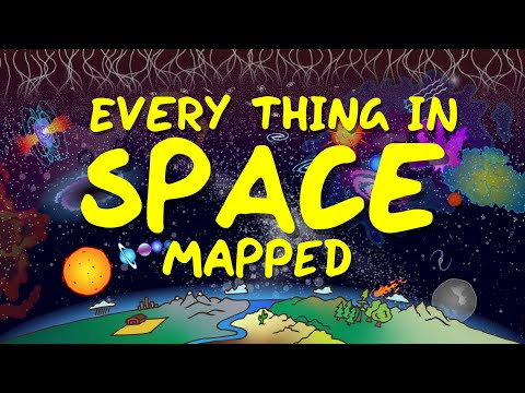 An Illustrated Map of Every Known Object in Space: Asteroids, Dwarf Planets, Black Holes & Much More