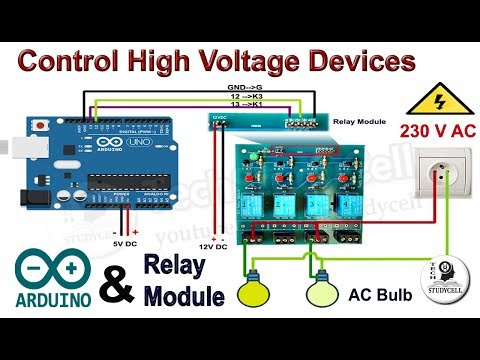 How to use 12V Relay module with Arduino to control High