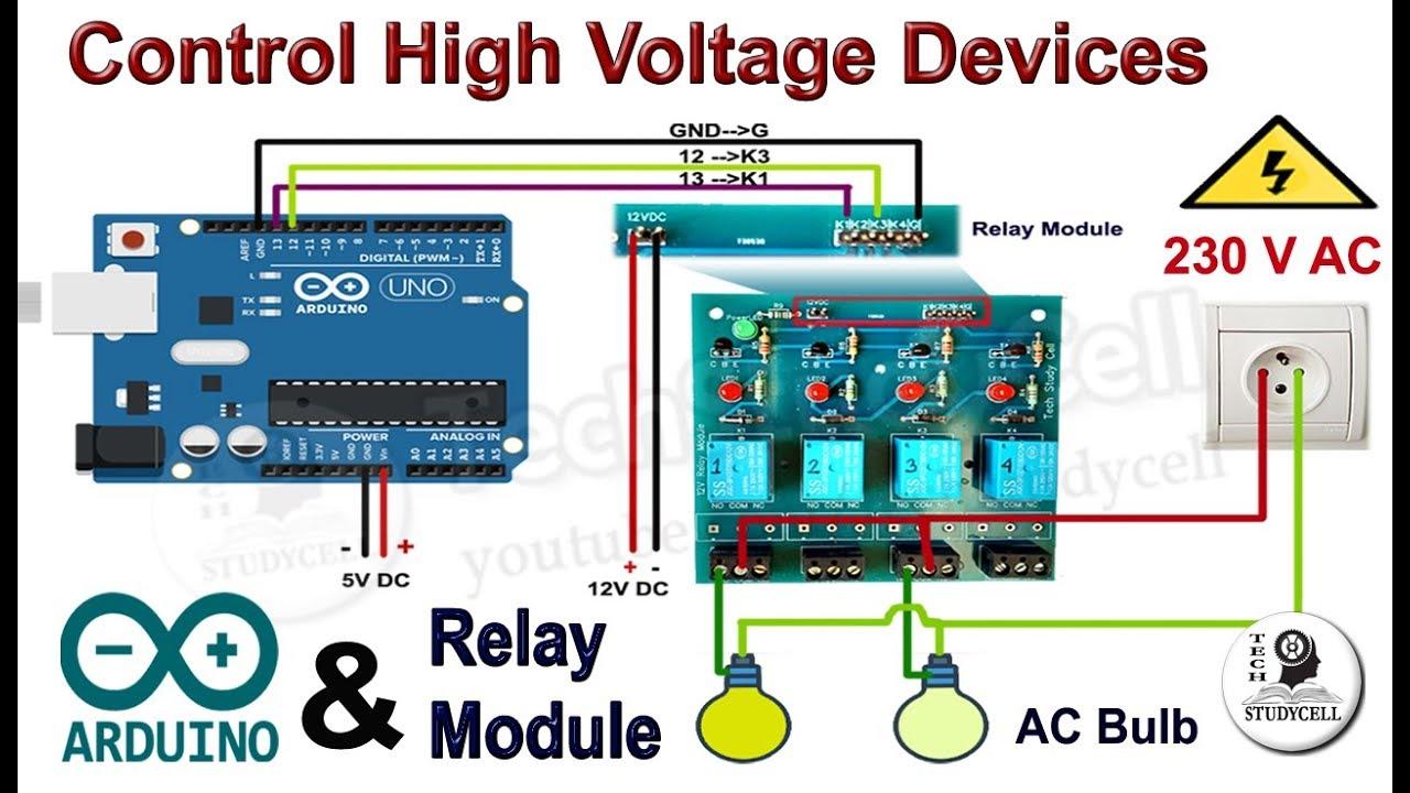arduinorelay relaymodule techstudycell [ 1280 x 720 Pixel ]