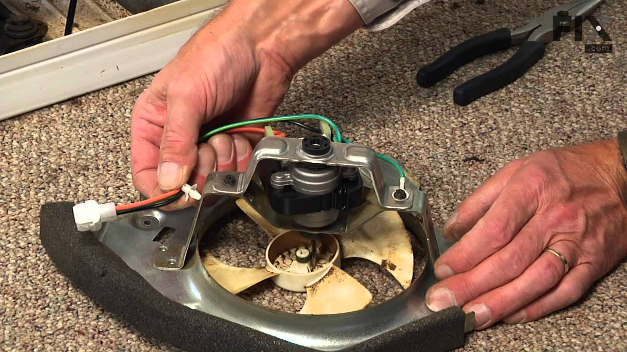Ge refrigerator repair how to replace the condenser fan for Ge refrigerator condenser fan motor not working
