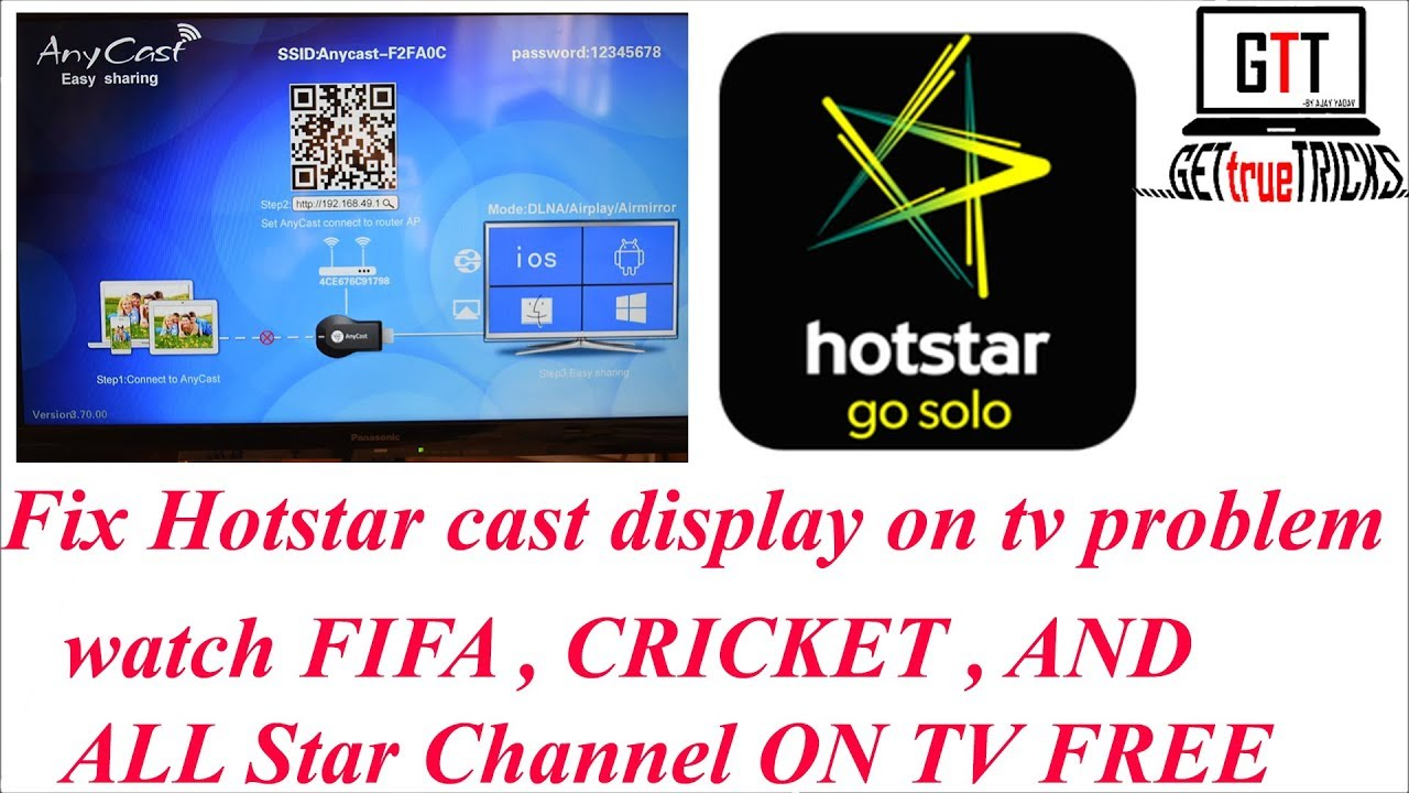 How to cast hotstar on tv