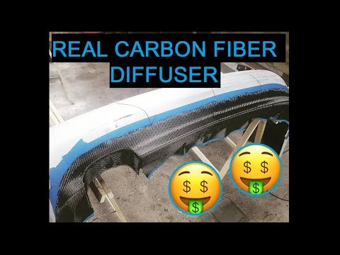 DIY Real Carbon Fiber Diffuser! All you need to know