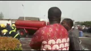 Petrol Station In Lagos Airport On Fire