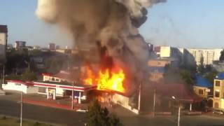 Взрыв заправки в Махачкале