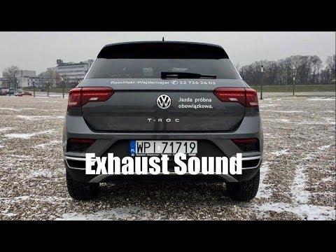 volkswagen t roc premium 1 5 tsi 150 km exhaust sound youtube. Black Bedroom Furniture Sets. Home Design Ideas