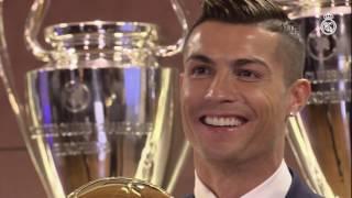 Cristiano Ronaldo receives his fourth Ballon d'Or!