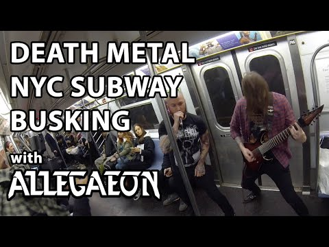 Death Metal NYC Subway Busking with ALLEGAEON | MetalSucks