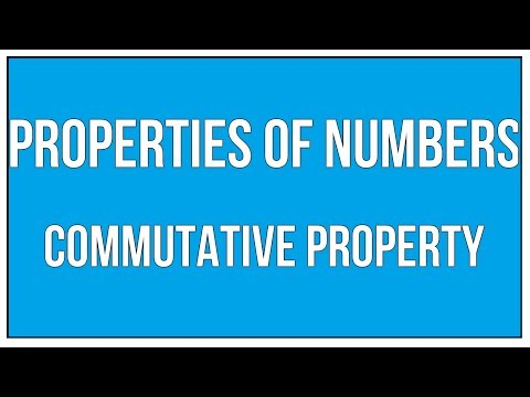 Properties Of Numbers - Commutative Property / Maths Arithmetic