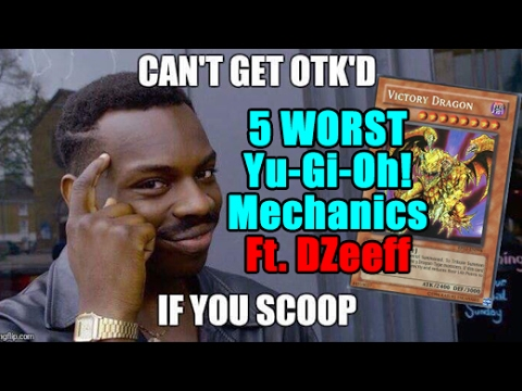 Top 5 Worst Mechanics In Yu-Gi-Oh! (Worlds Prize Cards Included) Ft. Dzeeff!
