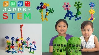 Jarrby STEM Flowers Toys for Girls   STEM Toys Set Perfect for Pre-School, Toddlers and Girls