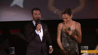 Jimmy Kimmel and Gal Gadot surprise movie audience Oscars 2018
