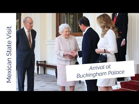 The President of the United Mexican States arrives at Buckingham Palace