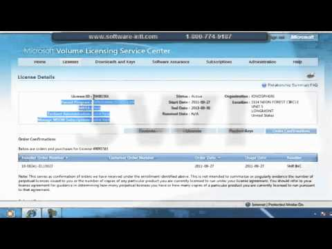 microsoft volume license authorization number