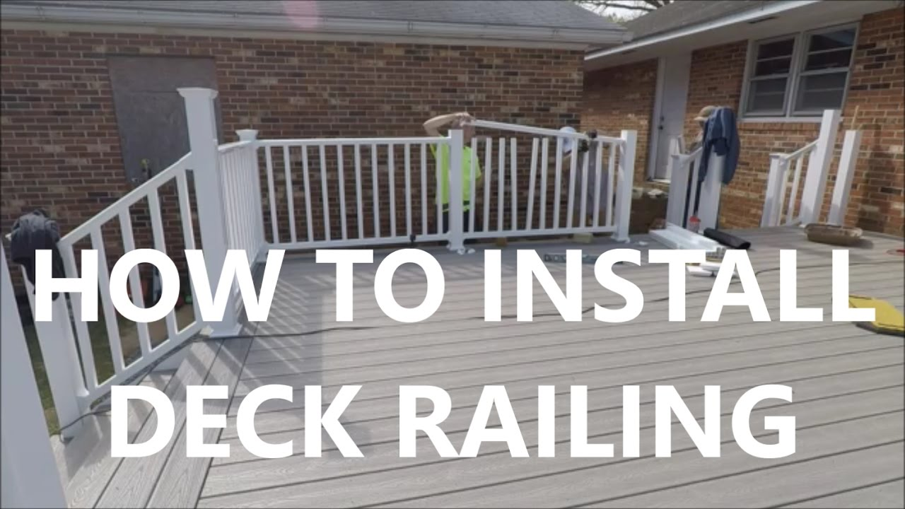 Building a deck for your dad how to install deck railing day building a deck for your dad how to install deck railing day 19 baanklon Choice Image