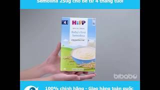 Bột sữa dinh dưỡng HiPP ăn dặm khởi đầu Semolina 250g cho bé từ 6 tháng tuổi - Bibabo